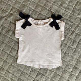 petit main - petit main🍒 肩リボンTシャツ 80