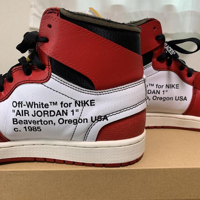 NIKE(ナイキ)のnike off white air jordan 1 chicago 正規品 メンズの靴/シューズ(スニーカー)の商品写真