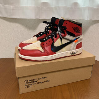 NIKE - nike off white air jordan 1 chicago 正規品