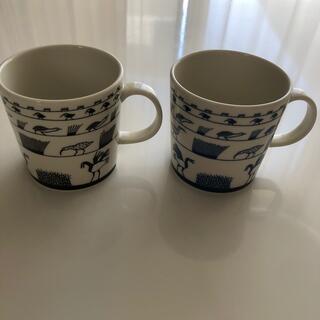 イッタラ(iittala)のイッタラ バードマグ  ブラック&ブルー(グラス/カップ)