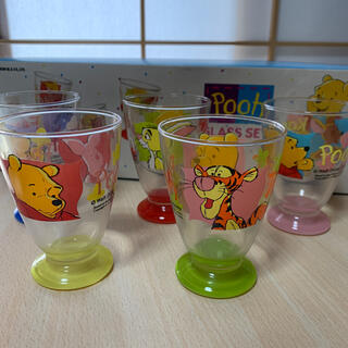 クマノプーサン(くまのプーさん)のくまのプーさんガラスコップセット 5色(グラス/カップ)