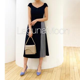 ラグナムーン(LagunaMoon)の✱美品✱ ラグナムーン カシュクールシャインプリーツワンピース(ロングドレス)