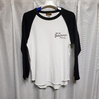 トウヨウエンタープライズ(東洋エンタープライズ)の東洋エンタープライズ インディアンモーターサイクル ベースボールT アメカジ (Tシャツ/カットソー(半袖/袖なし))