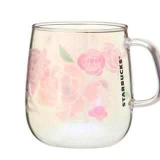 Starbucks Coffee - スタバ オンライン完売品 耐熱グラスオーロラバラモチーフマグカップ 母の日限定