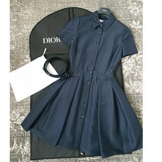 Christian Dior - DIOR 2020コレクションワンピース ネイビー 38 美品