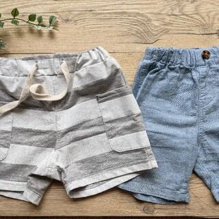 夏にぴったりなハーフパンツ2枚セット♡80・90サイズ