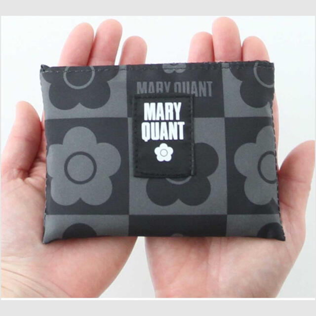 MARY QUANT(マリークワント)の【未開封商品】マリークワント  エコバッグ マイバッグ グレー(小) 新品 レディースのバッグ(エコバッグ)の商品写真