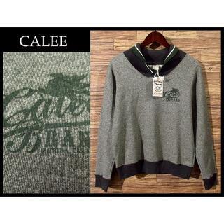 キャリー(CALEE)の新品 CALEE キャリー モービル石油 ロゴ ショールカラー スウェット M(スウェット)