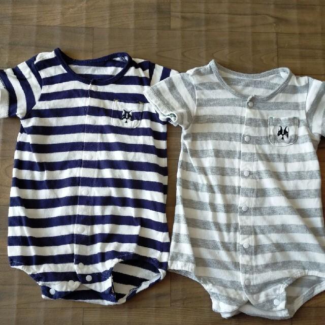 babyGAP(ベビーギャップ)のベビーギャップ ロンパース5枚セット+ボーダーロンパース2枚 キッズ/ベビー/マタニティのベビー服(~85cm)(ロンパース)の商品写真