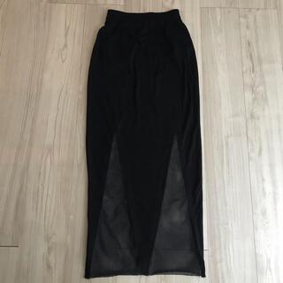エモダ(EMODA)のEMODA  黒デザインロングスカートM(ロングスカート)