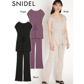 snidel - スナイデル リブニットセットアップ
