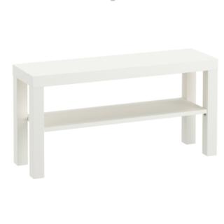 イケア IKEA LACK ラック テレビ台, ホワイト  【新品】(リビング収納)