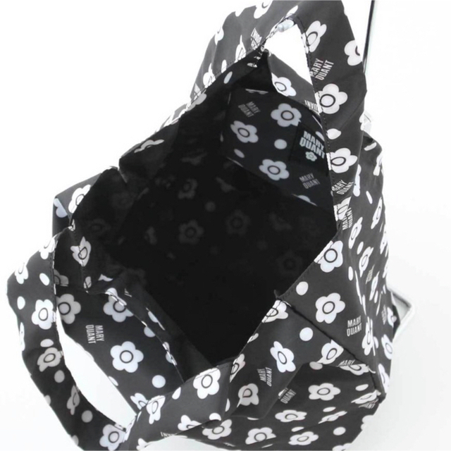 MARY QUANT(マリークワント)の【未開封商品】マリークワント  エコバッグ マイバッグ  黒  (大) 新品 レディースのバッグ(エコバッグ)の商品写真