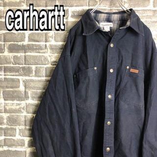 カーハート(carhartt)のカーハート☆ジャケット ワンポイントロゴ ゆるだぼ 古着 90s c44(ブルゾン)