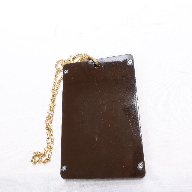 Q-pot.(キューポット)のQ-POT チョコレートICカードケース レディース ブラウン レディースのファッション小物(名刺入れ/定期入れ)の商品写真