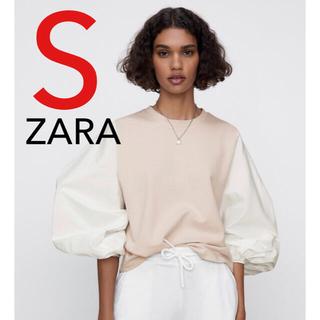 ZARA - ZARA コントラストスウェットシャツ 新品 S