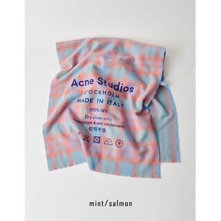 """アクネ(ACNE)の""""AcneStudios"""" 大判 チェック柄 マフラー イタリア ユニセックス(マフラー/ショール)"""