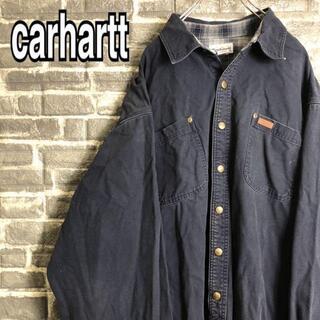 カーハート(carhartt)のカーハート☆ジャケット ゆるだぼ ワンポイント チェック 古着 90s c56(ブルゾン)