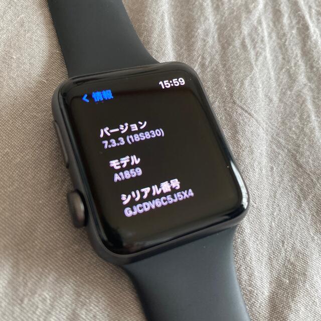 Apple Watch(アップルウォッチ)のApple Watch アップルウォッチ series3 42 スペースグレイ メンズの時計(腕時計(デジタル))の商品写真