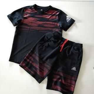adidas - 子供服  上下セット adidas ハーフパンツ スポーツウェア 半袖 短パン