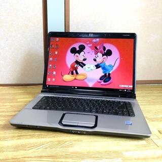 美品 コア2 HP Windows10 office DVD焼 wi-fi対応