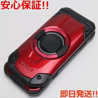 キョウセラ(京セラ)の美品 SIMロック解除済 au KYF33 TORQUE X01 レッド (携帯電話本体)