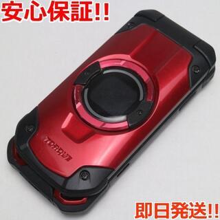 キョウセラ(京セラ)の美品 au KYF33 TORQUE X01 レッド (携帯電話本体)