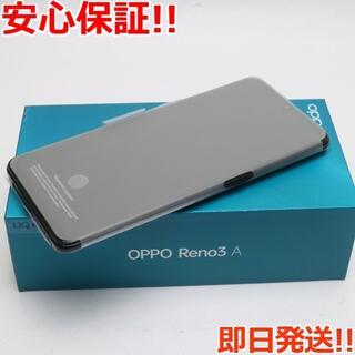 アンドロイド(ANDROID)の新品 UQmobile OPPO Reno3 A ブラック (スマートフォン本体)