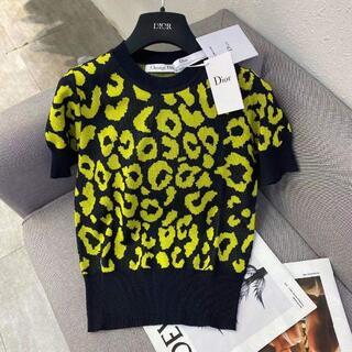 Dior - Dior ヒョウ柄の半袖セーター