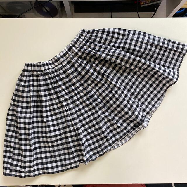 GLOBAL WORK(グローバルワーク)のGLOBAL WORK チェック スカート XL キッズ/ベビー/マタニティのキッズ服女の子用(90cm~)(スカート)の商品写真