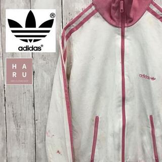 アディダス(adidas)のアディダスオリジナルス ジャージ フルジップパーカー ピンク ホワイト XS(ジャージ)