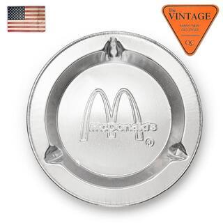 マクドナルド(マクドナルド)のUSAマクドナルド アルミ灰皿デッド未使用 ヴィンテージマック タバコ トレー(灰皿)