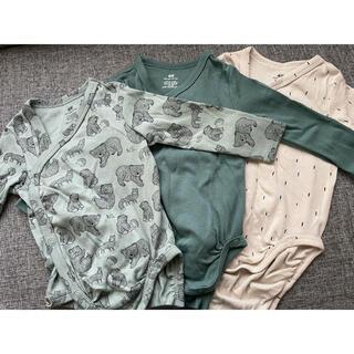 エイチアンドエム(H&M)のH&M ロンパース ボディスーツ 肌着 長袖(ロンパース)