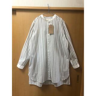 【le colis】ストライプシャツワンピース ロングシャツ
