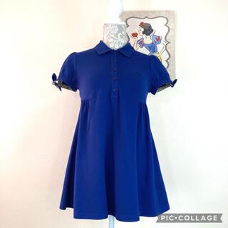 BURBERRY BLUE LABEL - 【美品】バーバリーBurberryポロシャツ ロング丈