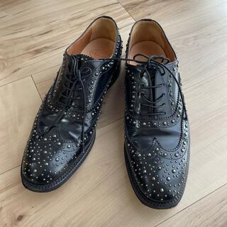 チャーチ(Church's)のChurch's  スタッズローファー 38 美品(ローファー/革靴)