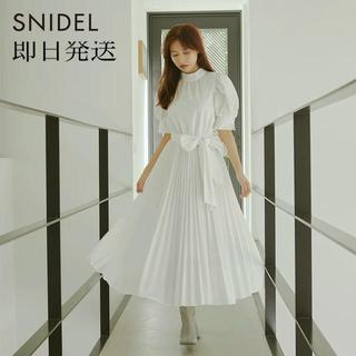 snidel - SNIDEL スナイデル  Sustainaリボンシャツワンピース 美人百花