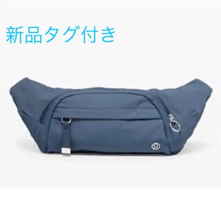 lululemon - ルルレモン ブルー系軽量ウエストポーチ On the Beat Belt Bag