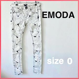 エモダ(EMODA)の★新品★【EMODA】ストレッチ ボトムス 白黒*size0*(スキニーパンツ)