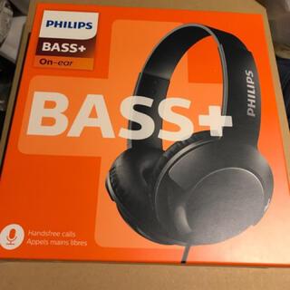 フィリップス(PHILIPS)のPHILIPSフィリップスBass+ SHL3075BKヘッドホン マイク付(ヘッドフォン/イヤフォン)