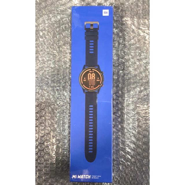 Xiaomi mi watch ブルー系カラー 新品未開封 日本語対応 ◎ メンズの時計(腕時計(デジタル))の商品写真
