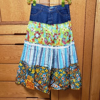 エルロデオ(EL RODEO)のROTE ROSA♪花柄ロングスカート♪タグ付き(ロングスカート)