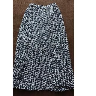 オゾック(OZOC)のOZOC  ロングスカート 紺色(ロングスカート)