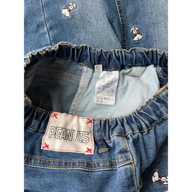 PEANUTS(ピーナッツ)のスヌーピー デニム パンツ 120サイズ キッズ/ベビー/マタニティのキッズ服男の子用(90cm~)(パンツ/スパッツ)の商品写真