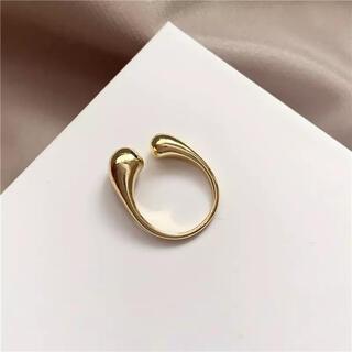 ケービーエフ(KBF)のぷっくりリング 指輪 ゴールド 新品 韓国(リング(指輪))