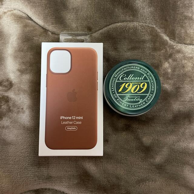 Apple(アップル)のiPhone12mini純正レザーケース スマホ/家電/カメラのスマホアクセサリー(iPhoneケース)の商品写真