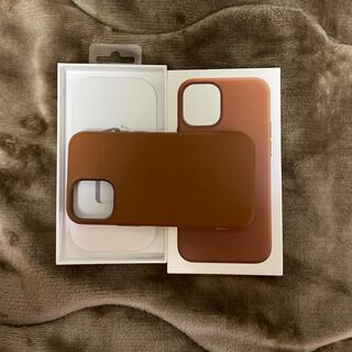Apple - iPhone12mini純正レザーケース