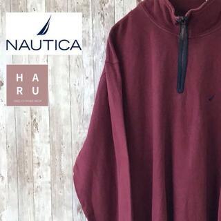 ノーティカ(NAUTICA)のノーティカ NAUTICA ハーフジップトレーナー スウェット ボルドー(スウェット)