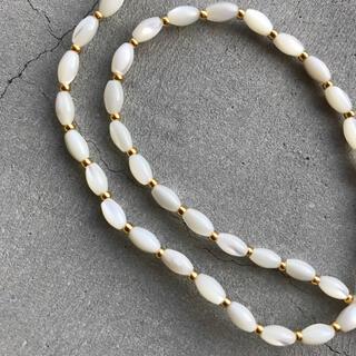 トゥデイフル(TODAYFUL)のnatural stone necklace 〜white〜(ネックレス)