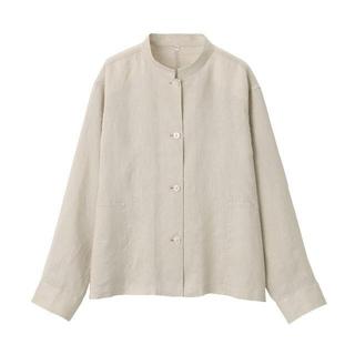 MUJI (無印良品) - 無印良品 フレンチリネン洗いざらし シャツジャケット  婦人M~L
